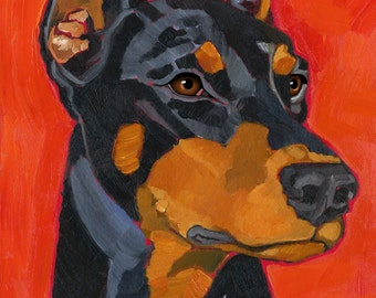 Doberman Pinscher No. 1 - magnets, coasters and fine art prints