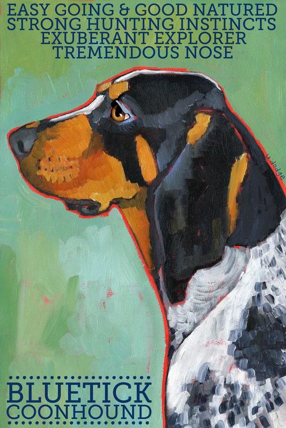 "Coonhound No. 2 - Bluetick 8.5x11"" Art Print"