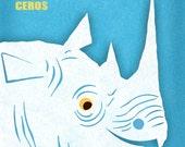 Rhinoceros Rhino 8x10 Print