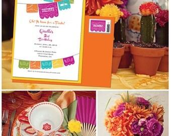 BIRTHDAY Spring Papel Picado Fiesta Invitation - I design, You Print