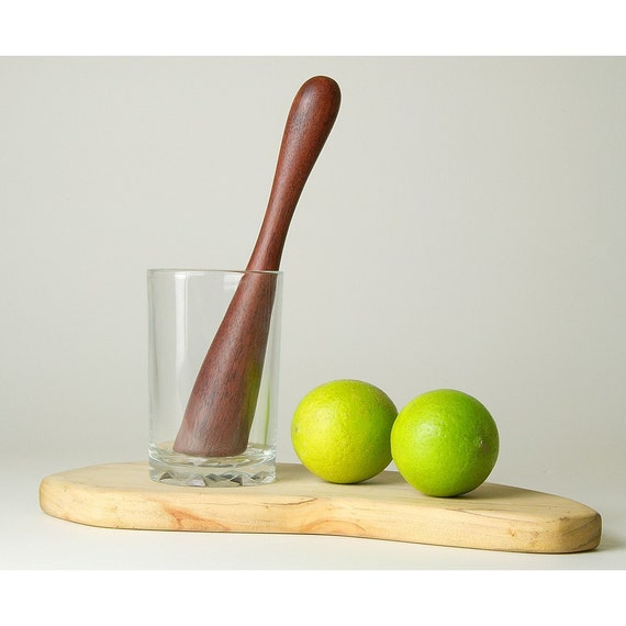 Muddler for Caipirinha, Mojito - Wood Muddle stick for cocktail. Bar or Kitchen. Handmade original design wooden muddling utensil. featured image