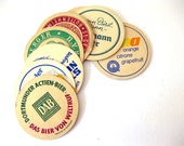 Vintage 1960s German Beer Coasters