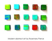 Rhapsody 15.12 - Rhapsody Collection of Mixed Media Wall Blocks - an original mixed media wall sculpture by Rosemary Pierce