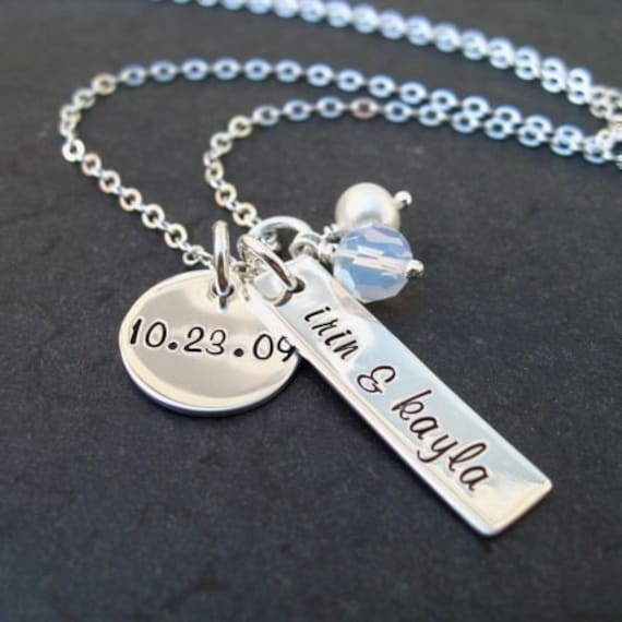 Items similar to personalized jewelry hand stamped for How to make hand stamped jewelry