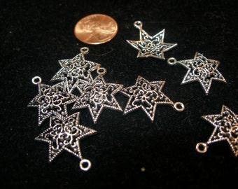 FINALLY back Filigree six pointed star charms pendants mogen David (20)  Judaica on etsy, Team ESST, OlympiaEtsy, WWWG