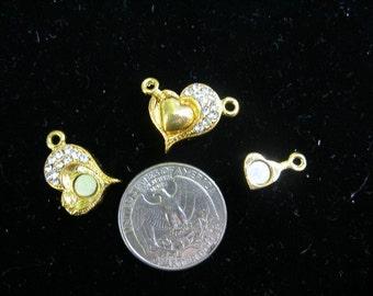 LAST ONE   Magnetic Gold plated heart clasp, Swarovski crystals   TeamESST, OlympiaEtsy, WWWG, paganteam, HandmadeJewelryGuild,