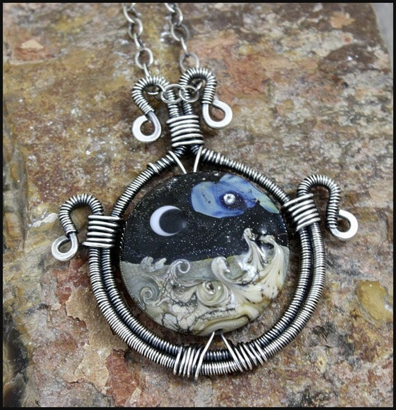 Tutorial for  Sterling Silver Wire-Wrapped Pendant - Beginner - PDF