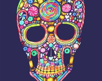 Sugar Skull - 8x10 archival giclee print