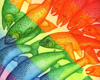 Rainbow Trout - 8x10 archival giclee print