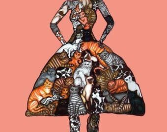 The Cat Lady - 8x10 archival giclee print