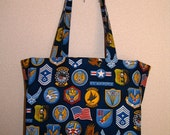 Air Force Insignia Patches TIGHT 'N' TIDY Tote Reusable Shopping Bag