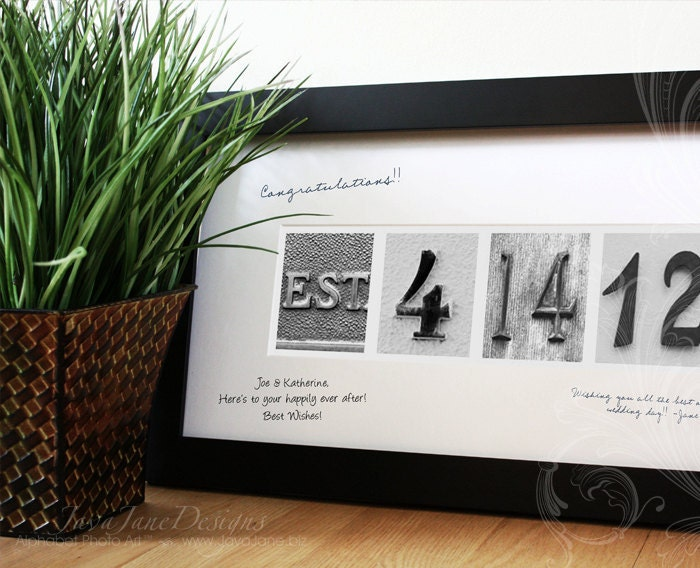 Guest Book Signature Frame For Wedding Date By Javajanedesigns