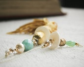 Gift idea for mother in law grandma mom - Chic and elegant in turquoise and gold with crystals and pearls