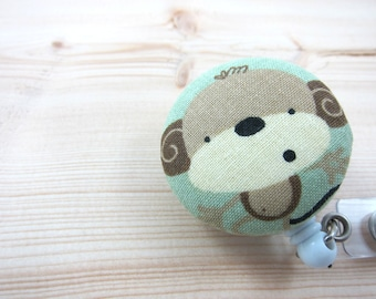 Retractable Badge Holder - ID Badge Reel - Uh-Oh Monkey