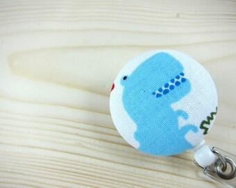 Retractable Badge Reel ID Badge Holder (Nurse Teacher Gift) - T-Rex