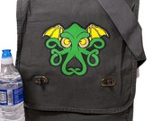 Field Messenger Bag Celtic Cthulhu Print