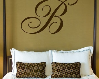 Giant Monogram - Wall Decals - Your Choice of Letter - Your Choice of Color -