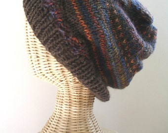 WOODLAND.  Hand Knit Slouch Tam