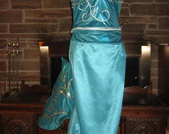 Custom made  2 piece Shimmering Mermaid Costume