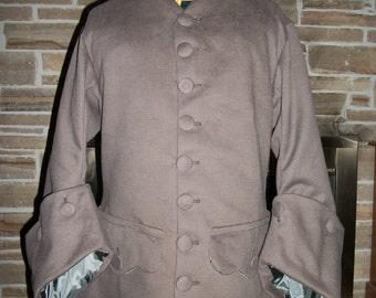 Custom Made 18th Century 3pc. Frock Coat, Waistcoat, & Breeches