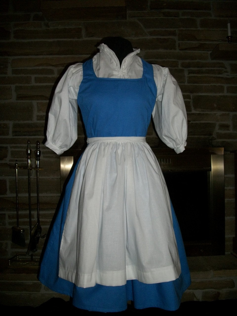White apron belle - Custom Made Belle Peasant Dress With Apron From Disney S Beauty And The Beast