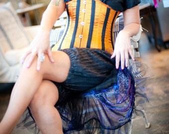 Silk Steel Edwardian Corset Made With Your Choice Color