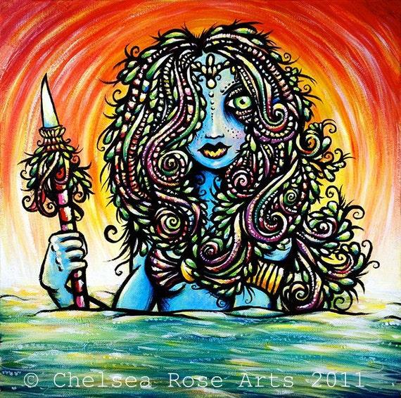 "Goddess of the Hunt 8.5""x11"" giclee print"