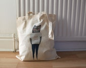Cotton Tote Bag: Taco Kitty