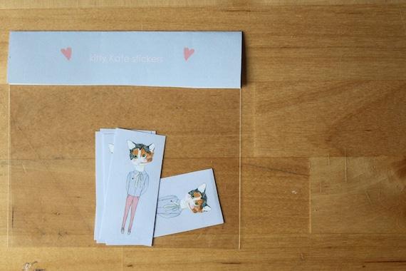 Stickers: Kitty Kate sticker set