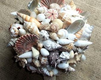 Beach Wedding Seashell Bouquet