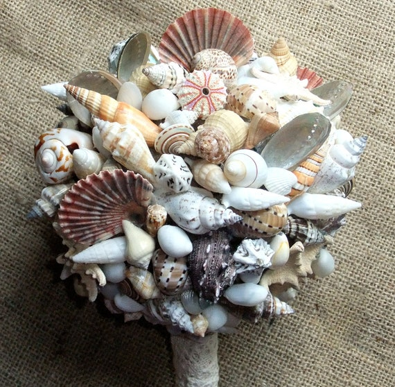 Beach Wedding Seashell Bouquet