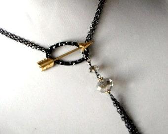 Eros Arrow Lariat - Archery Tassel Necklace