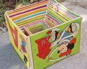 Vintage Disney Nesting Boxes, Set of Ten, Cardboard