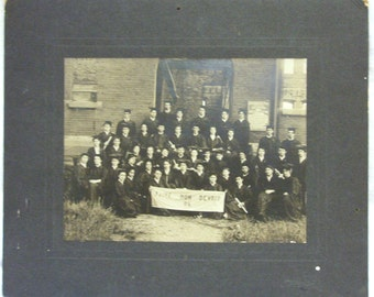 Antique Photograph, Antique Graduation Photo from 1906 from the Henry Barnard School, Antique Education Photograph, Black and White Photo