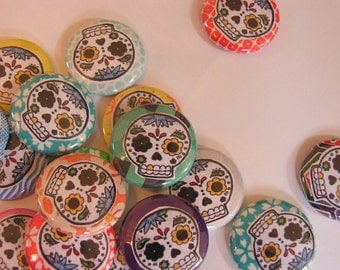 Calavera Buttons Pack of TWO