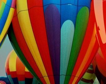 Hot Air Balloons - Fine Art Photo - 9 x 12 Matted Photo  - Balloon Fiesta - Travel Photo - Wall Decor - Inflating Balloons - Flying