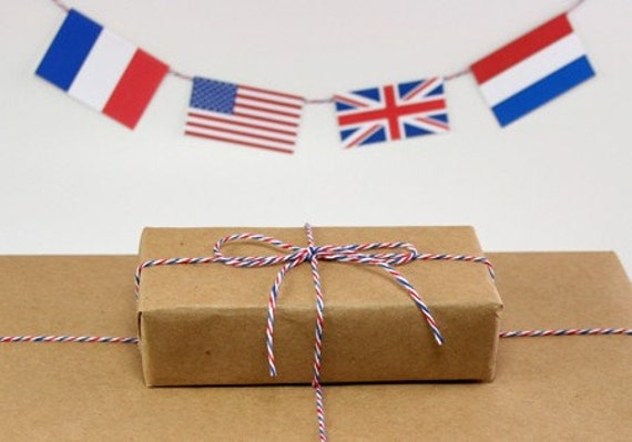 Air Mail - Red, White and Blue Bakers Twine - 240 yards (720 feet) - Divine Twine