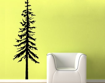 Pine Tree Decal, vinyl wall graphic, Pine Tree Decal, Pine Trees, Large Pine Tree Wall Decal, Tree Decal