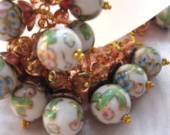 Young Dawn Porcelain Rose Beads Bracelet