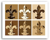"Fleur de Lis Art ""Fleur Neutral"" Prints Signed and Numbered"
