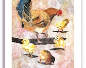 "Chicken Art ""Bantam Chicks"" Signed and Numbered Art Print"