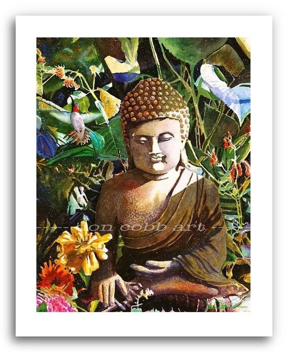 Buddha Buddhist Hummingbird Art Prints Signed And Numbered
