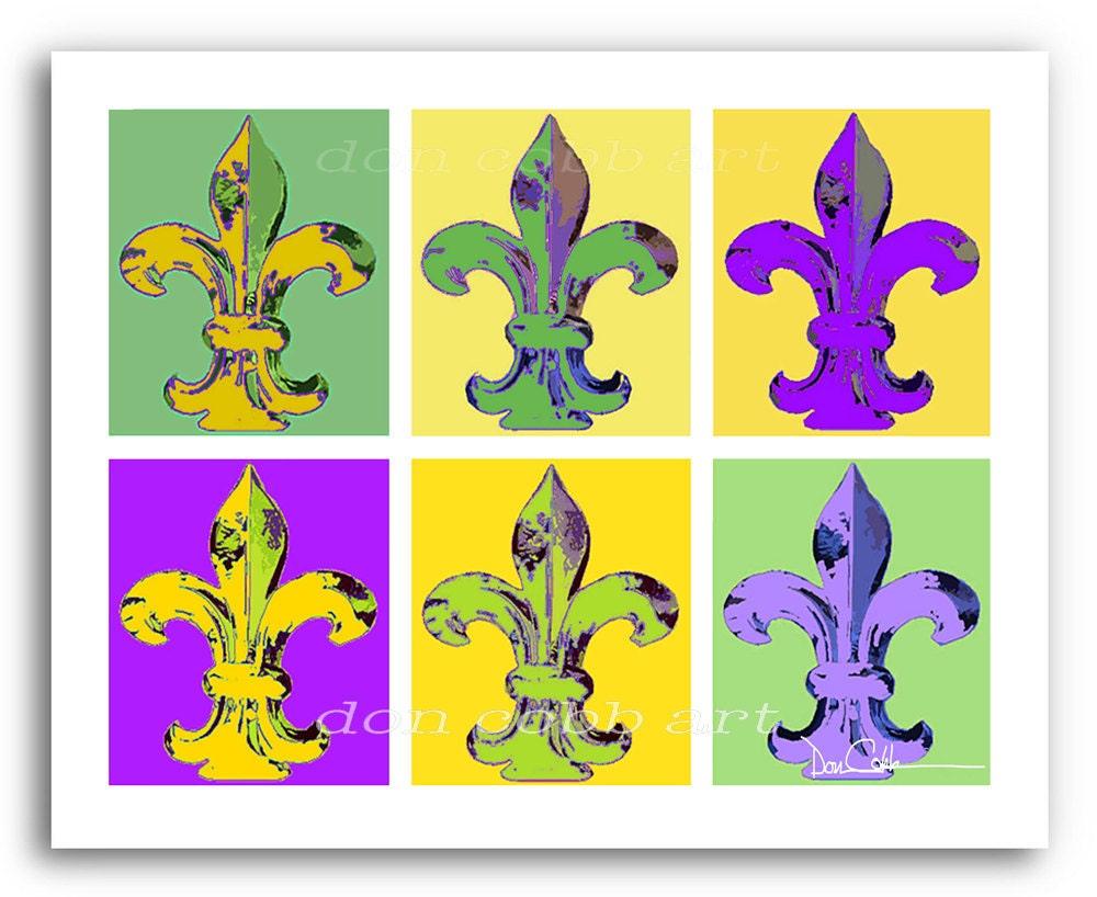 New Orleans Art Mardi Gras Fleur De Lis Prints
