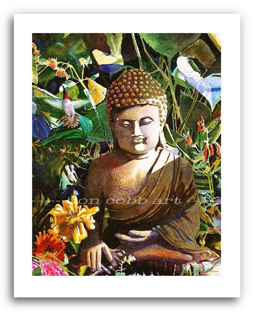 Buddha Buddhist Hummingbird Art Prints Signed And Numbered