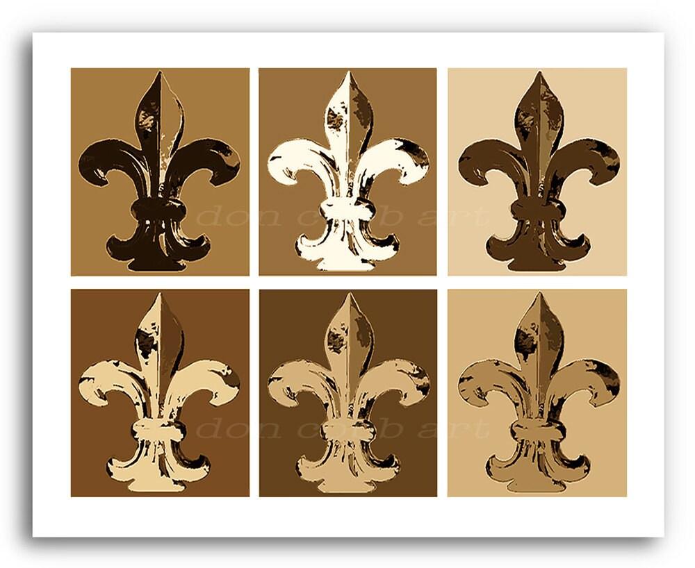 Fleur De Lis Art Fleur Neutral Prints Signed And