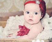 Baby Headband-Newborn headbands-Baby girls headbands-Feather Headbands-Black Friday-Headbands-Fascinator-Flapper-Red Feather-Cyber Monday