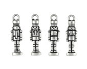 Nutcracker Charms Antique Silver Christmas Charms TierraCast Christmas Past Collection P1060