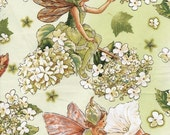Flower Fairy Morning Garden Cicely Mary Barker fabric 1 yard