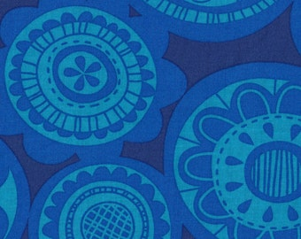 Circles Blue Erin McMorris Summersault Cartwheel Lake Fabric 1 yard SALE