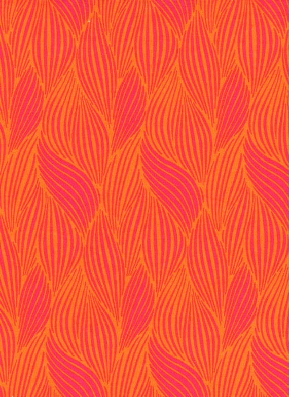 Wavy Optical Stripe Orange and Pink Timeless Treasures fabric 1/2 yard LAST IN STOCK